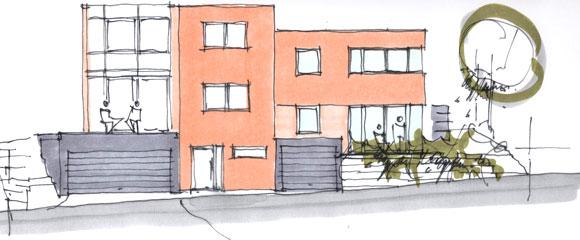architekturb ro peter brinkmann doppelhaus in passivhaus. Black Bedroom Furniture Sets. Home Design Ideas