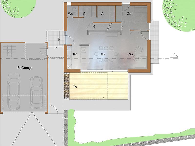 architekturb ro peter brinkmann neubau in massivholz bauweise in schorndorf haubersbronn. Black Bedroom Furniture Sets. Home Design Ideas